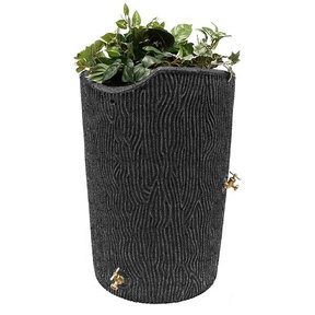 Good Ideas Impressions Bark Rain Saver, 50 Gallon, Dark Granite