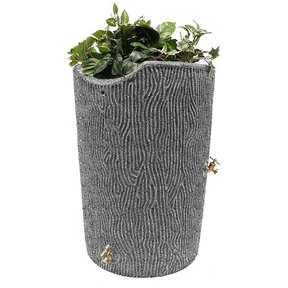 Good Ideas Impressions Bark Rain Saver, 50 Gallon, Light Granite