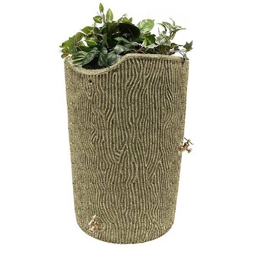 View a Larger Image of Good Ideas Impressions Bark Rain Saver, 50 Gallon, Sandstone