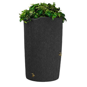 Good Ideas Impressions Bark Rain Saver, 90 Gallon, Dark Granite