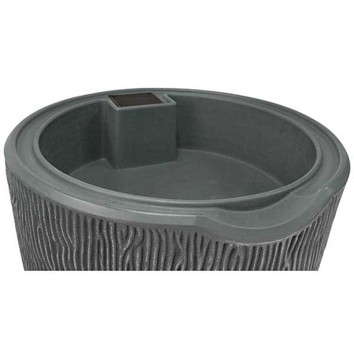 View a Larger Image of Good Ideas Impressions Bark Rain Saver,  90 Gallon, Gray
