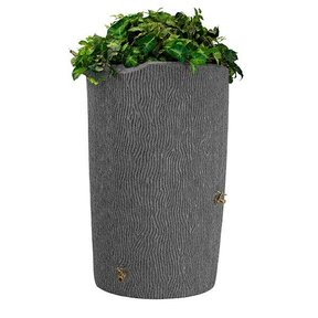 Good Ideas Impressions Bark Rain Saver, 90 Gallon, Light Granite