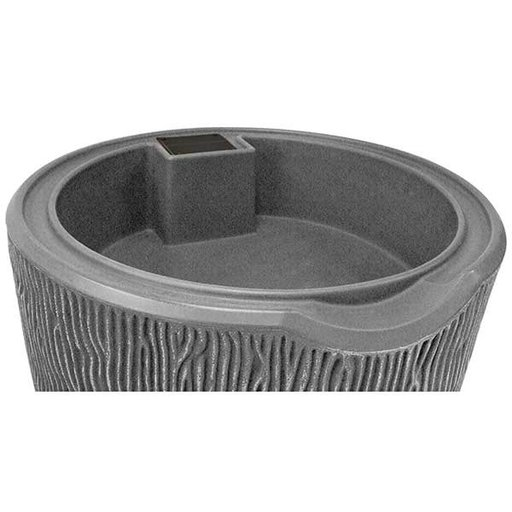 View a Larger Image of Good Ideas Impressions Bark Rain Saver, 90 Gallon, Light Granite