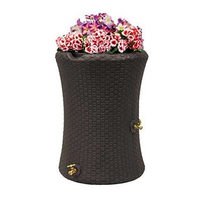 Good Ideas Impressions Nantucket Rain Saver, 50 Gallon, Dark Brown