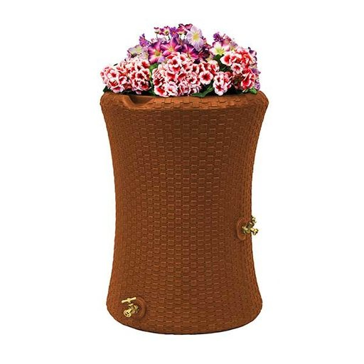 View a Larger Image of Good Ideas Impressions Nantucket Rain Saver, 50 Gallon, Terra Cotta
