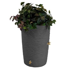 Good Ideas Impressions Palm Rain Saver, 50 Gallon, Dark Granite