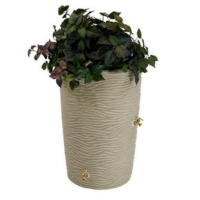 Good Ideas Impressions Palm Rain Saver, 50 Gallon, Sandstone