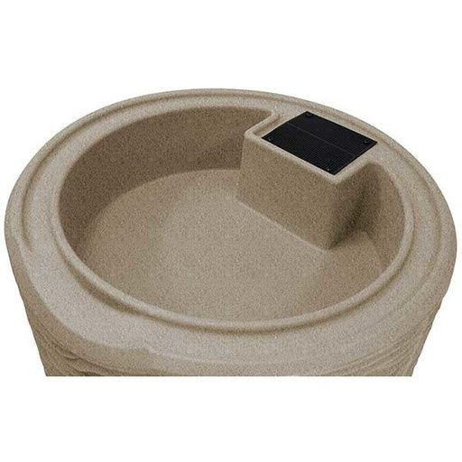 View a Larger Image of Good Ideas Impressions Palm Rain Saver, 50 Gallon, Sandstone