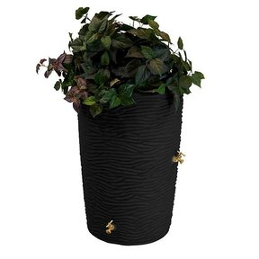 Good Ideas Impressions Palm Rain Saver, 65 Gallon, Black