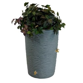 Good Ideas Impressions Palm Rain Saver, 65 Gallon, Gray