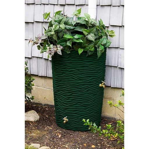 View a Larger Image of Good Ideas Impressions Palm Rain Saver, 65 Gallon, Green