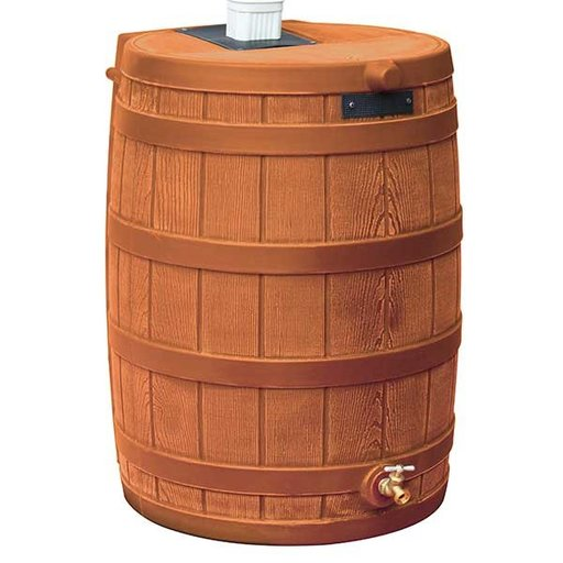 View a Larger Image of Good Ideas Rain Wizard 40, 40 Gallon, Terra Cotta