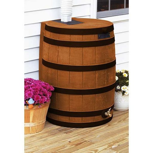 View a Larger Image of Good Ideas Rain Wizard 40 with Darkened Ribs, 40 Gallon, Terra Cotta