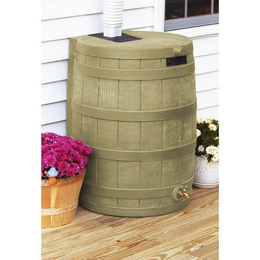 View a Larger Image of Good Ideas Rain Wizard 50, 50 Gallon, Khaki