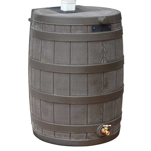 View a Larger Image of Good Ideas Rain Wizard 50, 50 Gallon, Oak