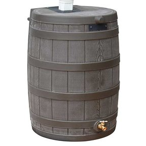 Good Ideas Rain Wizard 50, 50 Gallon, Oak