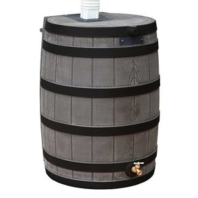 Good Ideas Rain Wizard 50 with Darkened Ribs, 50 Gallon, Oak