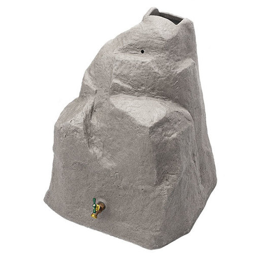 View a Larger Image of Good Ideas Rain Wizard Rock, 42 Gallon, Light Granite