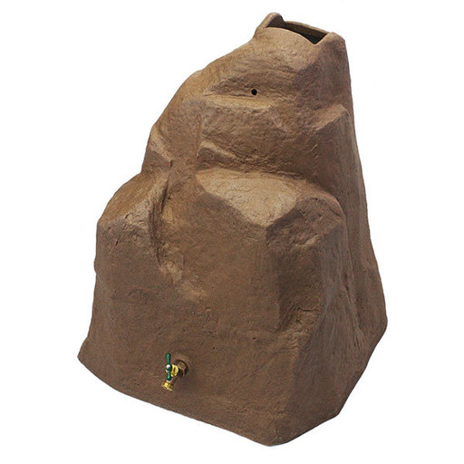 View a Larger Image of Good Ideas Rain Wizard Rock, 42 Gallon, Red Brick