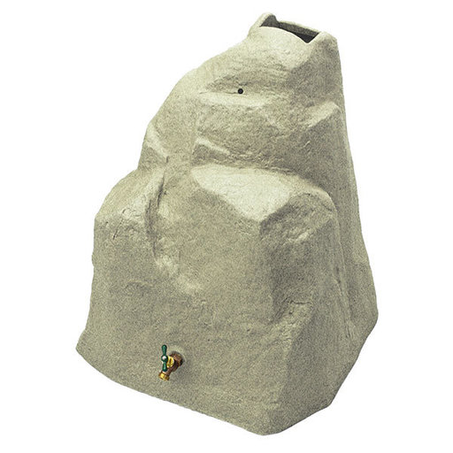 View a Larger Image of Good Ideas Rain Wizard Rock, 42 Gallon, Sandstone