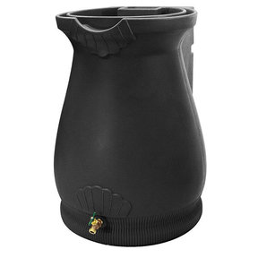 Good Ideas Rain Wizard Urn, 65 Gallon, Black