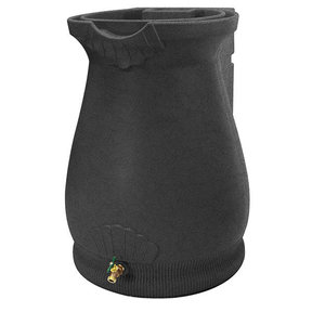 Good Ideas Rain Wizard Urn, 65 Gallon, Dark Granite