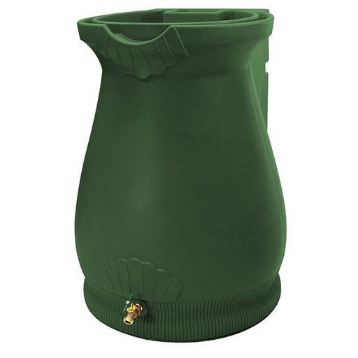 View a Larger Image of Good Ideas Rain Wizard Urn, 65 Gallon, Green