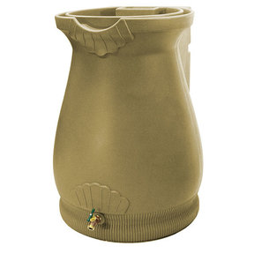 Good Ideas Rain Wizard Urn, 65 Gallon, Khaki