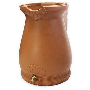 Good Ideas Rain Wizard Urn, 65 Gallon, Terra Cotta