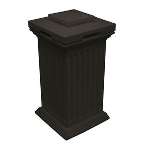 Good Ideas Savannah Column Storage and Waste Bin, 30 Gallon, Black