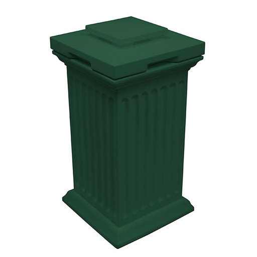 View a Larger Image of Good Ideas Savannah Column Storage and Waste Bin, 30 Gallon, Green