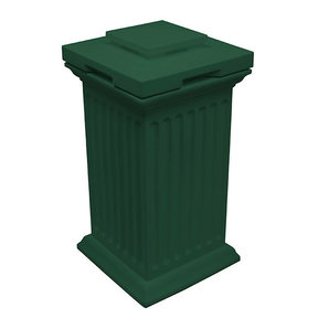 Good Ideas Savannah Column Storage and Waste Bin, 30 Gallon, Green