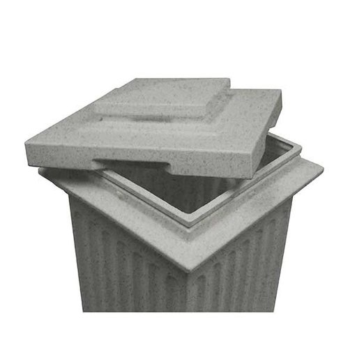 View a Larger Image of Good Ideas Savannah Column Storage and Waste Bin, 30 Gallon, Light Granite