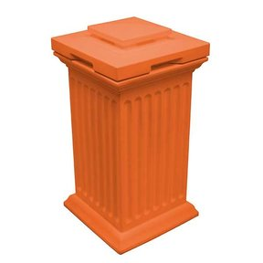 Good Ideas Savannah Column Storage and Waste Bin, 30 Gallon, Terra Cotta
