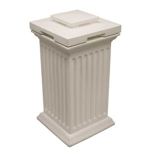 View a Larger Image of Good Ideas Savannah Column Storage and Waste Bin, 30 Gallon, White