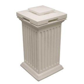 Good Ideas Savannah Column Storage and Waste Bin, 30 Gallon, White