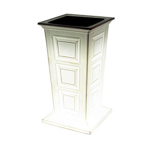 Good Ideas Savannah Lighted Planter, White
