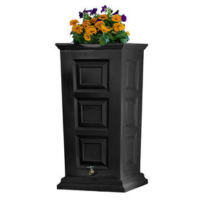 Good Ideas Savannah Rain Saver, 55 Gallon, Black