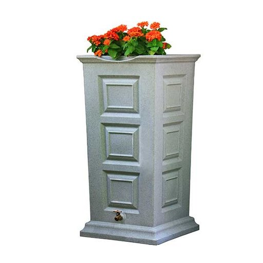 View a Larger Image of Good Ideas Savannah Rain Saver, 55 Gallon, Light Granite
