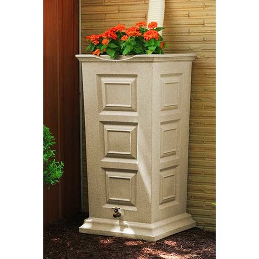 View a Larger Image of Good Ideas Savannah Rain Saver, 55 Gallon, Sandstone