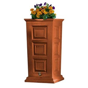 Good Ideas Savannah Rain Saver, 55 Gallon, Terra Cotta