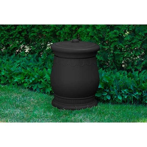 View a Larger Image of Good Ideas Savannah Urn Storage and Waste Bin, 30 Gallon, Black