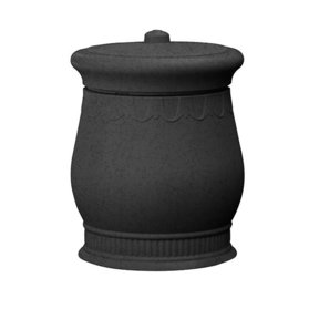 Good Ideas Savannah Urn Storage and Waste Bin, 30 Gallon, Dark Granite