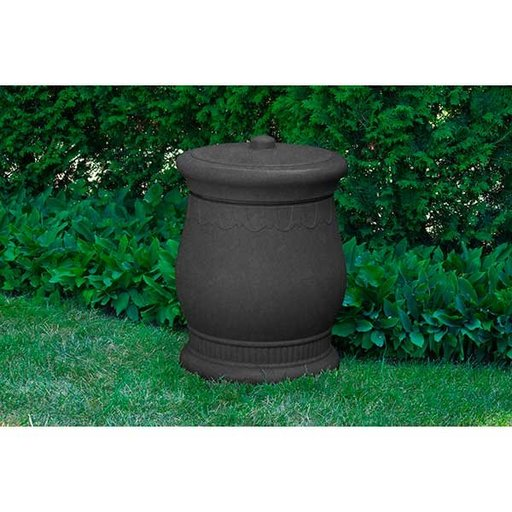 View a Larger Image of Good Ideas Savannah Urn Storage and Waste Bin, 30 Gallon, Dark Granite