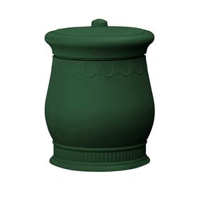 Good Ideas Savannah Urn Storage and Waste Bin, 30 Gallon, Green