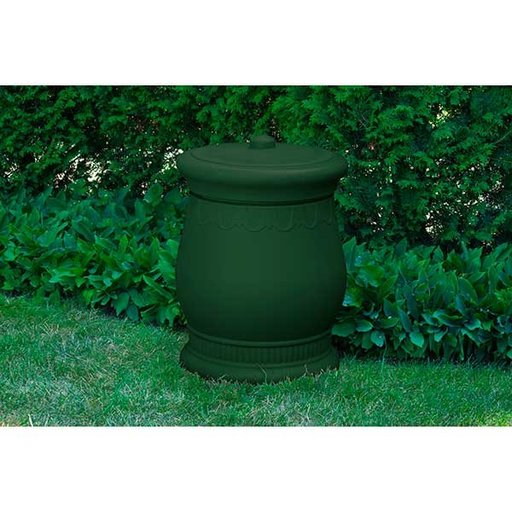 View a Larger Image of Good Ideas Savannah Urn Storage and Waste Bin, 30 Gallon, Green