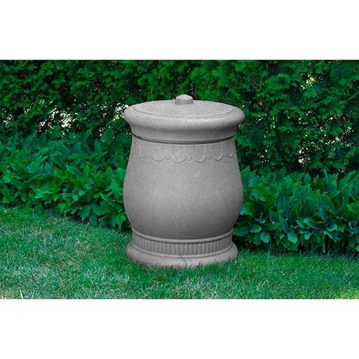 View a Larger Image of Good Ideas Savannah Urn Storage and Waste Bin, 30 Gallon, Light Granite