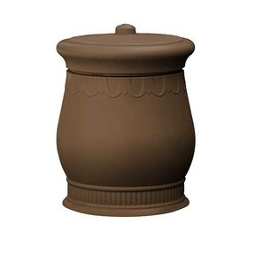 Good Ideas Savannah Urn Storage and Waste Bin, 30 Gallon, Oak