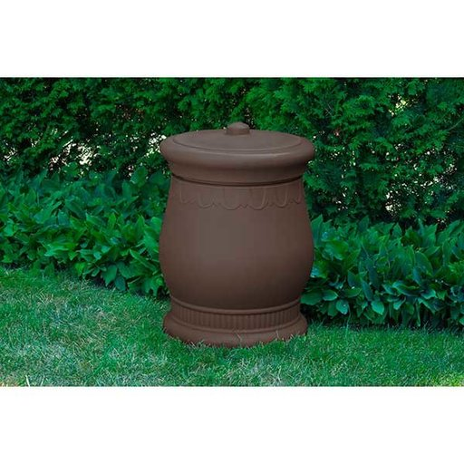 View a Larger Image of Good Ideas Savannah Urn Storage and Waste Bin, 30 Gallon, Oak