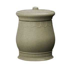 Good Ideas Savannah Urn Storage and Waste Bin, 30 Gallon, Sandstone